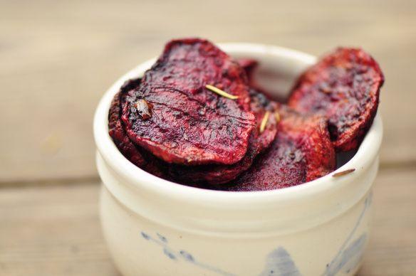 Baked Beet Chips | Recipes - Veggie | Pinterest