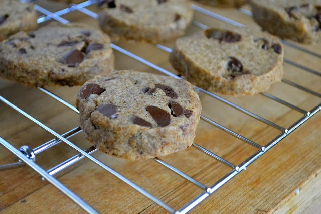Espresso Chip Shortbread - the dough can be frozen as a log and used ...