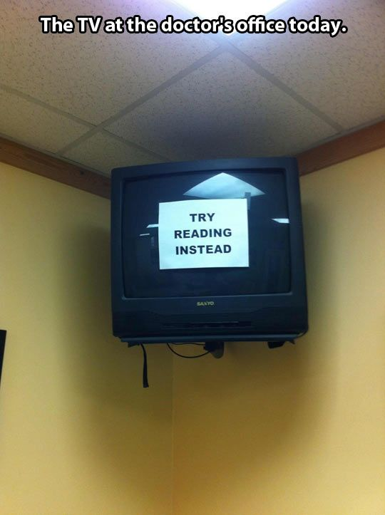 The TV at doctor's office today !