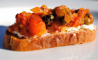 Croustades of Red Peppers with Goat Cheese #musttryrecipe