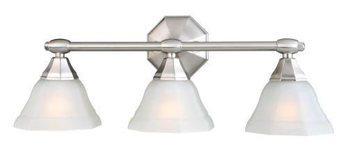 passavia 3 light 24 5 satin nickel indoor vanity light at menards