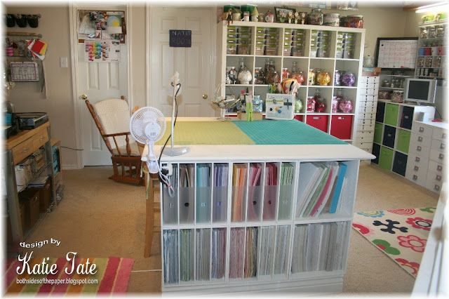 New craft room:D love the paper storage.