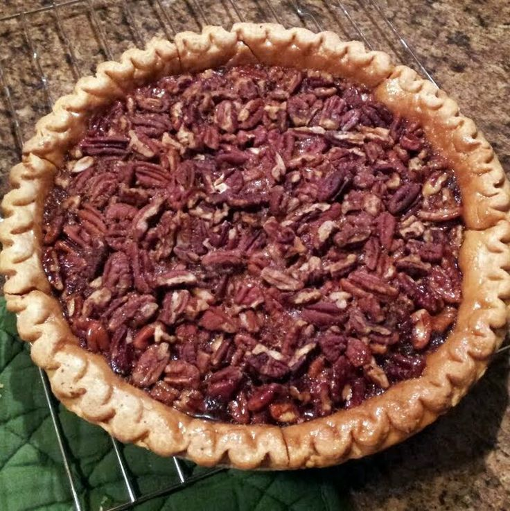"""Pecan Pie - """"A simple traditional southern pecan pie (L)"""" @alltheco..."""
