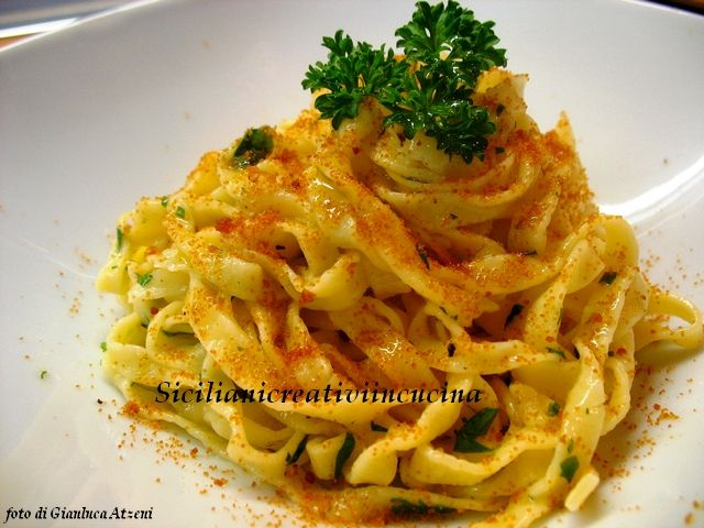 Fettuccine al limone e bottarga | Adventures With Pasta | Pinterest