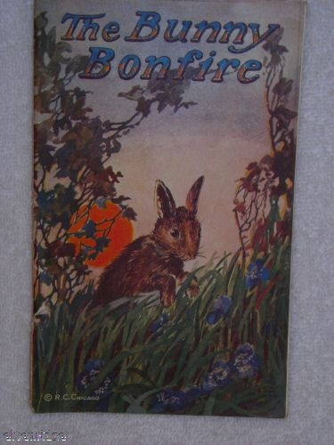 Bunny Bonfire antique children's book