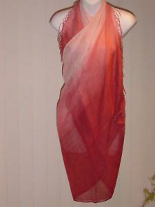 Sarong Wine Mauve Ombre Wrap Multi Use Dress Cover Up | eBay