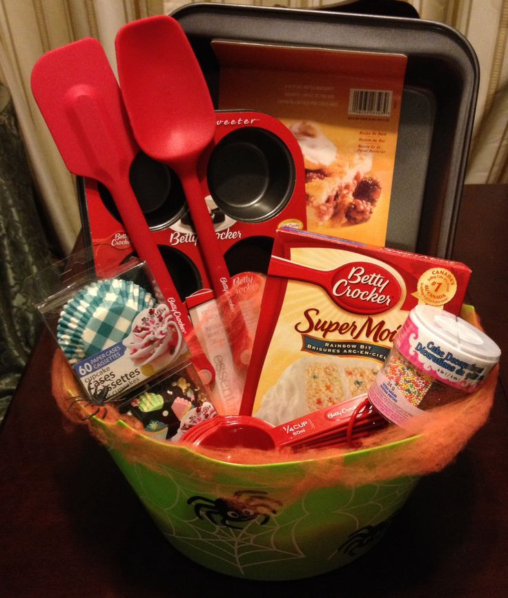 Baking basket auction for class pinterest