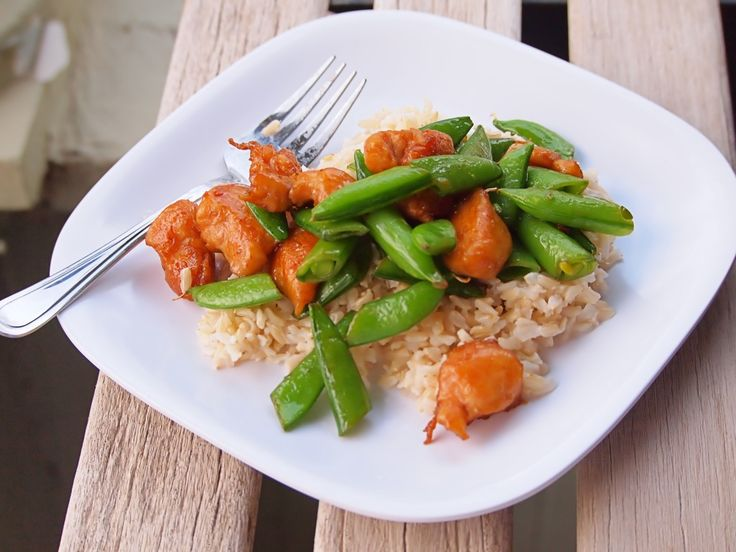 Chicken and Sugar Snap Pea Stir Fry - Made this tonight with frozen ...