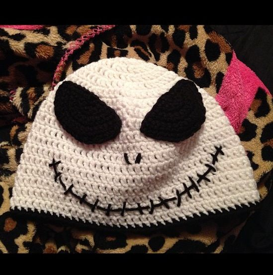 Crochet Jack Skellington : Crochet jack skellington hat Crochet Pinterest
