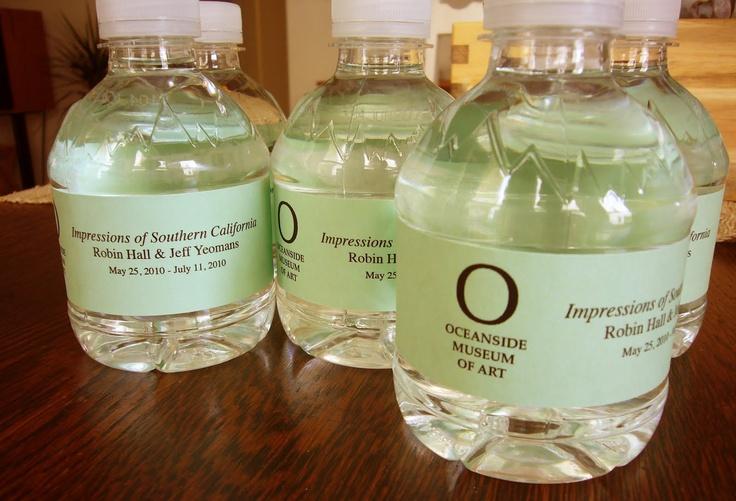 DIY Water Bottle Labels Party Pinterest