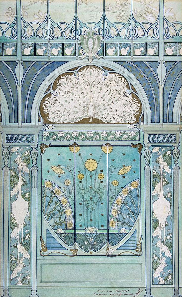 Pin by edwina richardson on art illustration corner for Art nouveau decoration