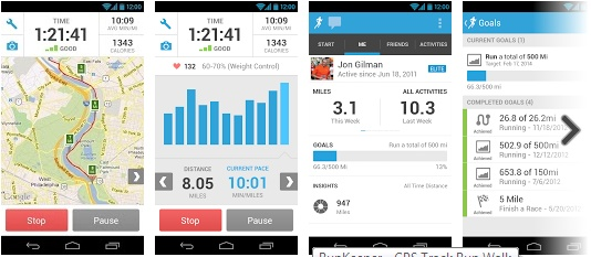 Aplikacja RunKeeper na smartfony