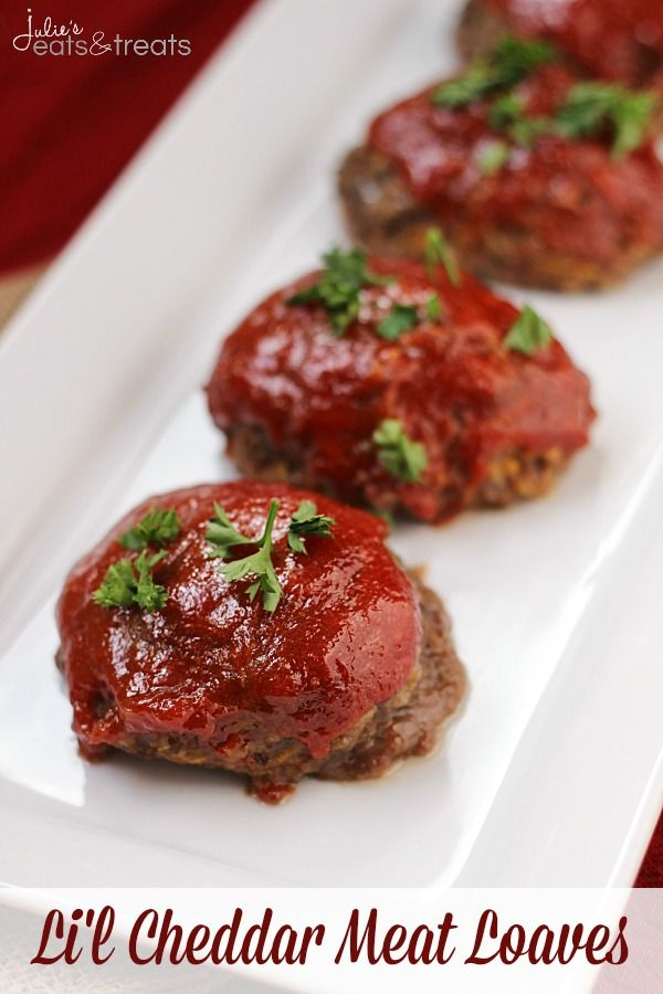 ... favorite meal! Perfect mini meat loaves loaded with cheddar cheese