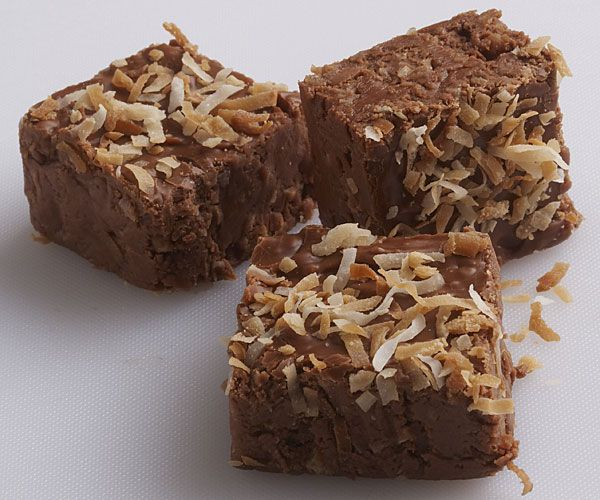 More like this: chocolate coconut , fudge and coconut .