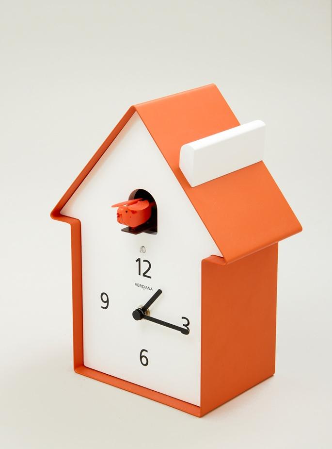 Modern cuckoo clock tangerine pinterest - Contemporary cuckoo clock ...