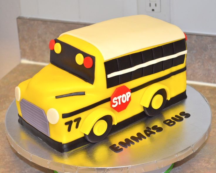 Cake Art Design School : school bus cake Cakes Pinterest