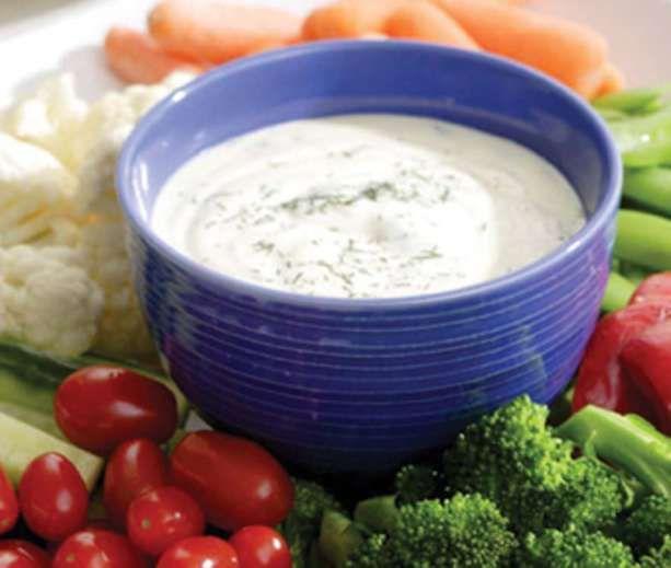 Ranch Dip & Crunchy Vegetables | Low Carb & Low Calorie Savory | Pint...