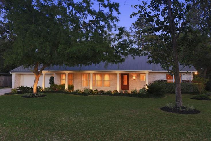 stunning contemporary ranch home features austin limestone