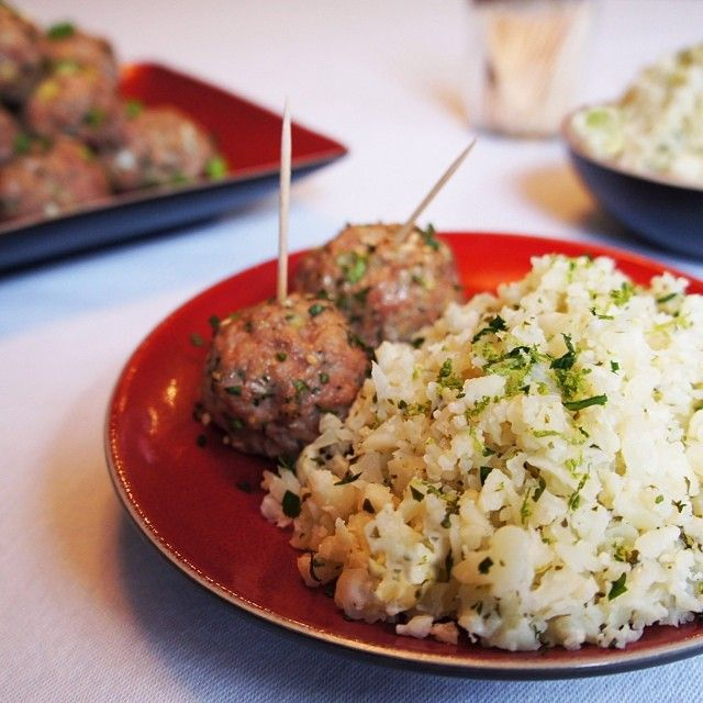 Inspired Meatballs With Ginger Lime Dipping Sauce & Cilantro Lime ...