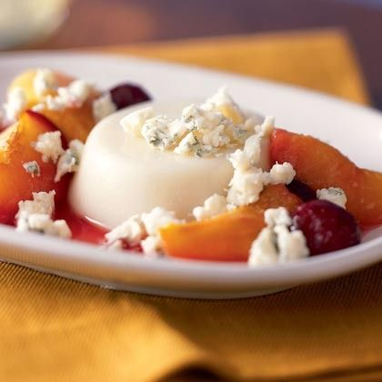 Panna Cotta with Vermont Blue Cheese and Roasted Stone Fruit by ...