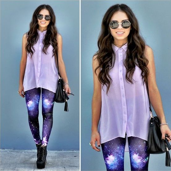 What to Wear with Galaxy Leggings
