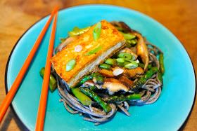 Vegan Good Things: Soba Noodles with Miso-Glazed Tofu & Vegetables