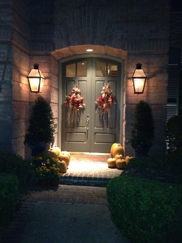 Thanksgiving door decorations fall home decor pinterest
