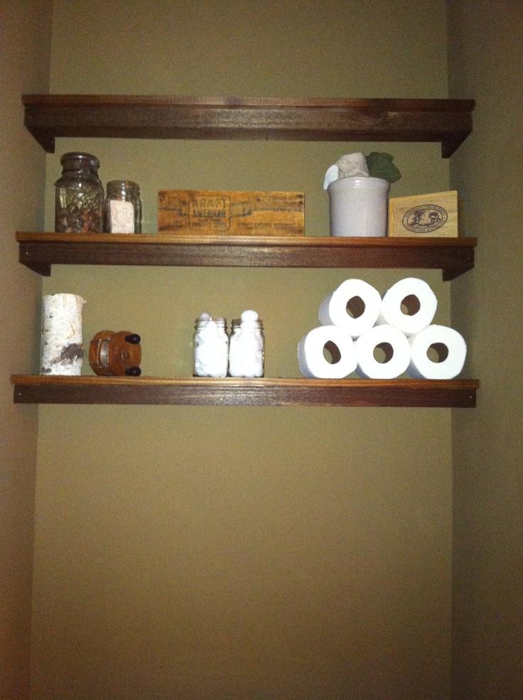 Rustic Bathroom Shelves Main Bath Pinterest