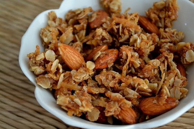 Coconut Almond Granola- cook for less time than it calls for, my first ...