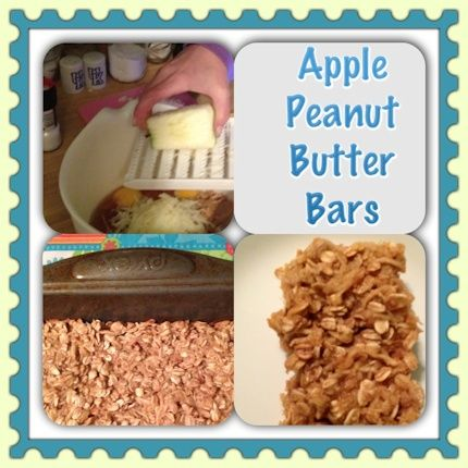 apple peanut butter bars | Sweet Treats | Pinterest