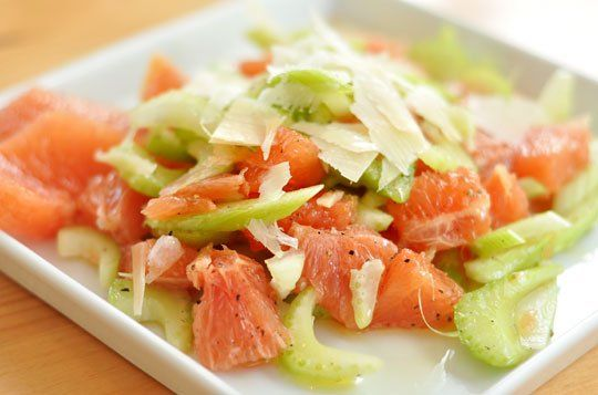 Summer Recipe: Celery and Grapefruit Salad with Parmesan Recipes from ...