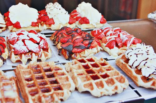 waffles.... so yummy! (Your waffles are the best though, mom!) Love ...