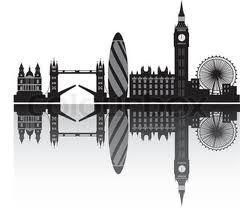 London Skyline Outline Tattoo Silhouette