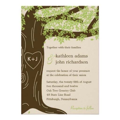 Oak Tree Wedding Invitations absolutely amazing ideas for your invitation example