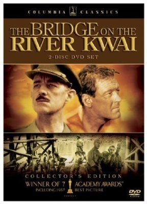 The Bridge on the River Kwai (1957, drama), David Lean directs Alec Guinness, William Holden, Jack Hawkins and Sessue Hayakawa in this WWII classic. Seven Oscars, including Best Picture, Best Director, and Best Actor (Guinness).