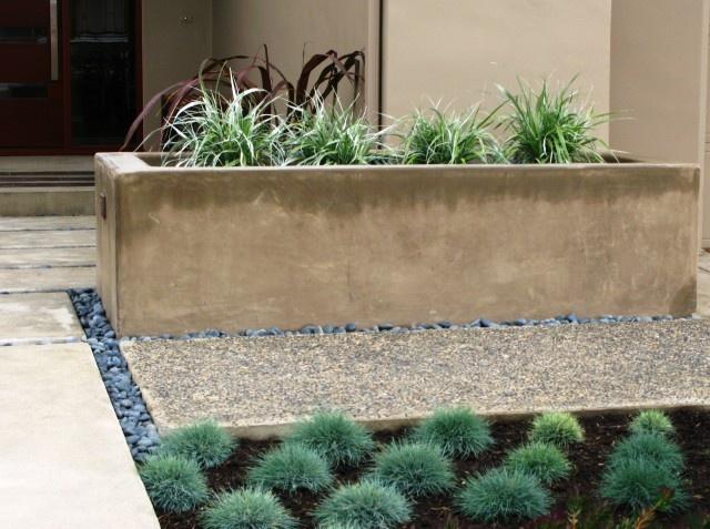 concrete planter Outside Pinterest