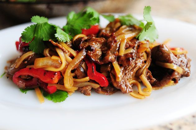 Beef with Peppers - a BIG hit at our house using chicken or beef!