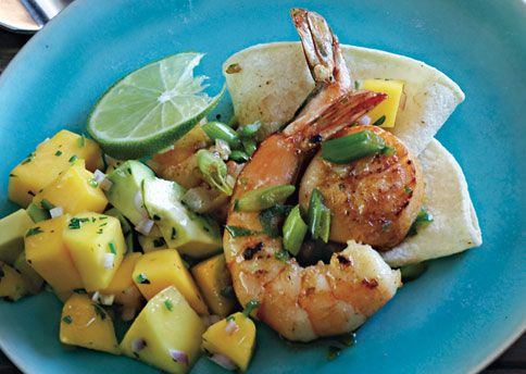 Mexican Seafood Sauté with Avocado-Mango Salsa   Recipe
