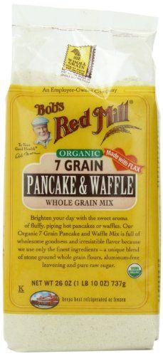 Bob's Red Mill Organic 7 Grain Pancake & Waffle, Whole Grain Mix, 26 ...