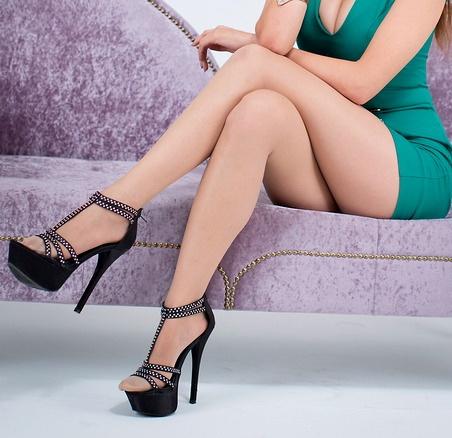 Platform heels and nylons