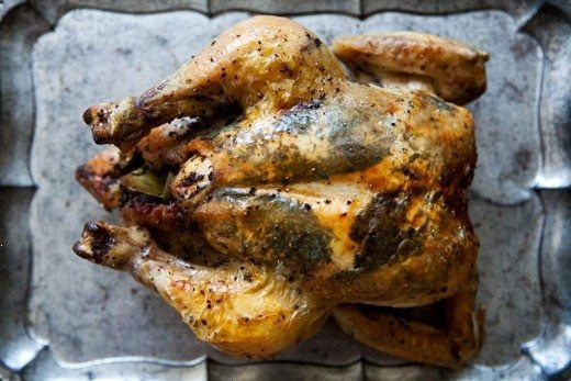 WHOLE ROASTED CHICKEN, INFUSED WITH FRESH HERBS - PARSLEY, BASIL ...
