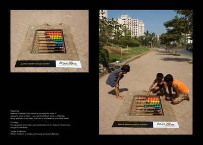 a street abacus in Mumbai- done by the Aseema Trust- for street children- a huge, horrible issue in Mumbai