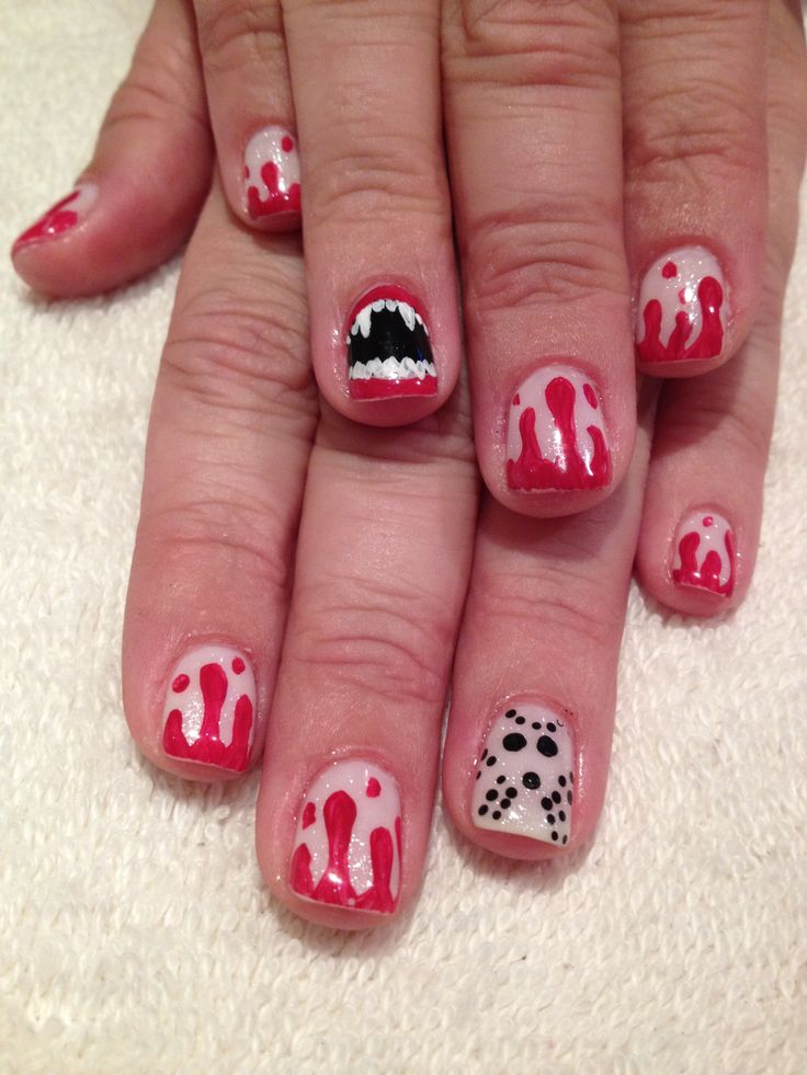 Halloween done with shellac | Nails | Pinterest