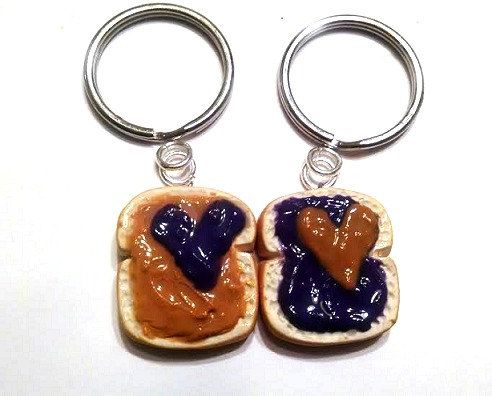 Peanut Butter and Grape Jelly Hearts Key by GuiltfreeDecadence, $13.00