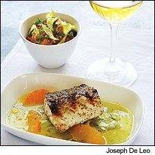 Grilled Striped Bass with Fennel Salad and Grapefruit Emulsion ...