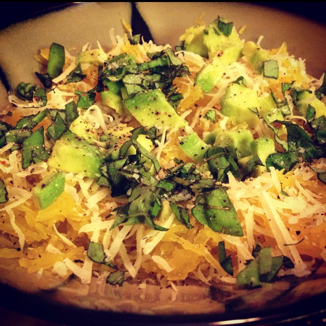 Melinda's Spaghetti Squash With Avocado and Parmesan — Quick ...