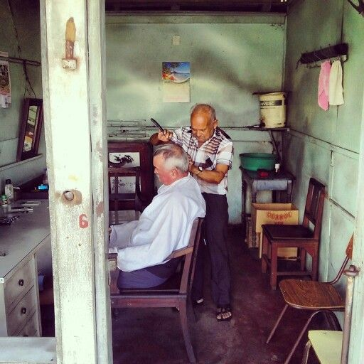 Local Barbers : Local barber shop - Mahebourg village Barber Shop Pinterest