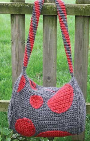 Polka Dot Duffle Crochet Pattern from Hooked for Life - crocheted in ...