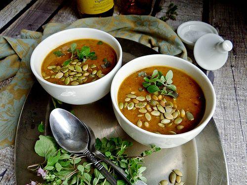 pumpkin black bean soup | MMMmmmmm | Pinterest