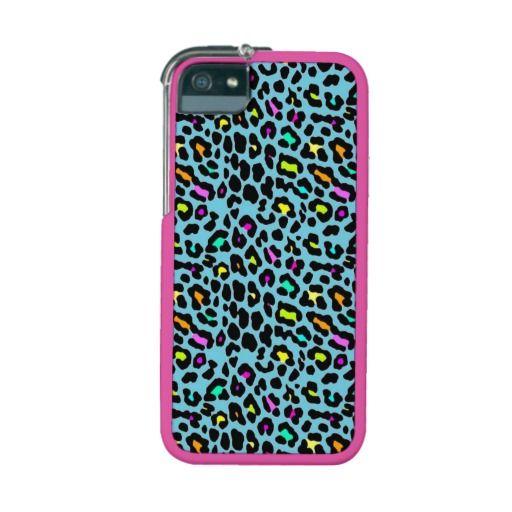 Case Design zazzle phone cases : Cool Blue Cheetah iPhone 5/5S Case